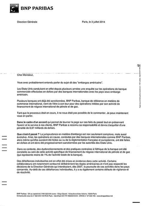 Lettre De Motivation Pour La Banque Bnp Amende Bnp Paribas Les Clients De La Banque Doivent Ils S Inqui 233 Ter Choisir