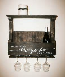reclaimed pallet wood wine rack small personalized with