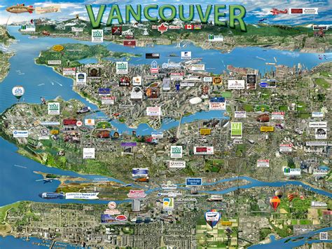 map of vancouver vancouver map silicon maps