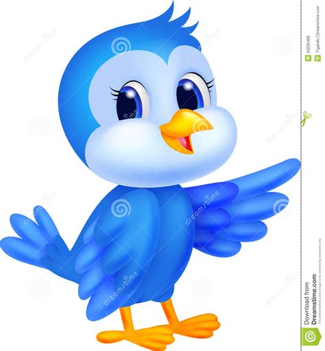 Cute Baby Cartoon Birds