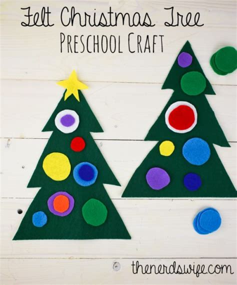 felt christmas tree preschool craft the nerd s wife