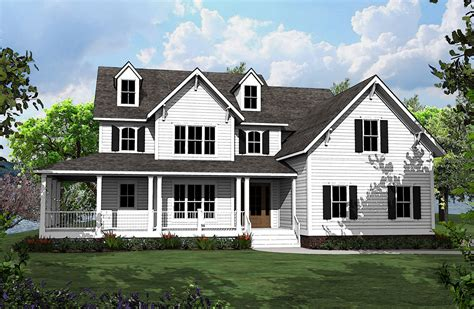 country homes plans 4 bed country house plan with l shaped porch 500008vv