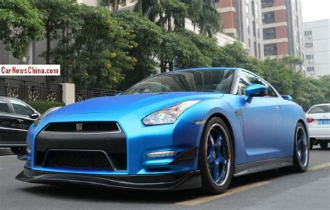 nissan gtr matte blue nissan gt r is matte blue in china carnewschina com