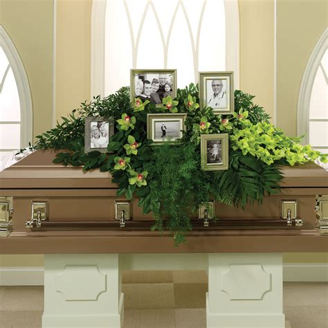 Unique Vases by Funeral Casket Sprays Choy S Flowers Hendersonville Nc