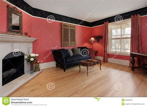 red walls in living room living room with red walls royalty free stock photo