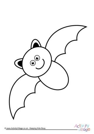 preschool bat coloring page halloween colouring pages