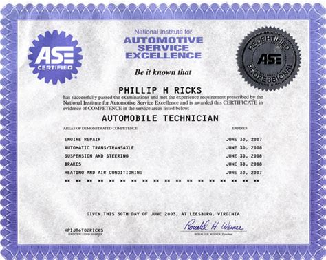 ase certificate template ase master certification pictures to pin on