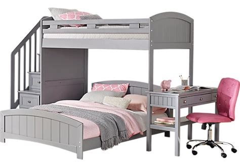 cottage bunk beds cottage colors gray step loft with desk bunk desk
