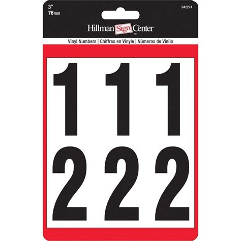 the hillman group 3 in self adhesive vinyl number set 842274 the home depot