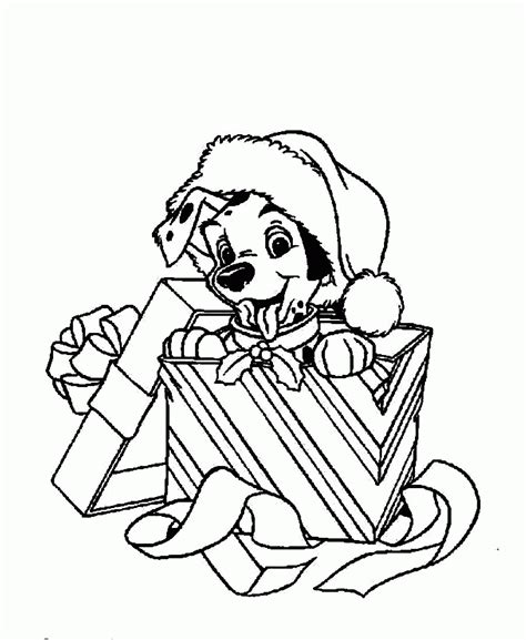christmas puppies coloring pages coloring home