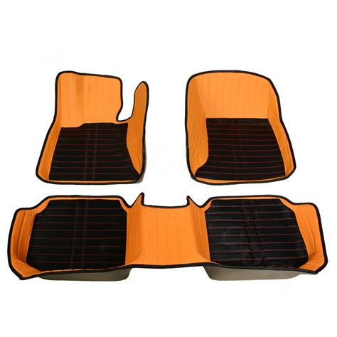 Orange Floor Mats For Cars by Buy Wholesale Personalized Pu Leather Tailored Auto Carpet