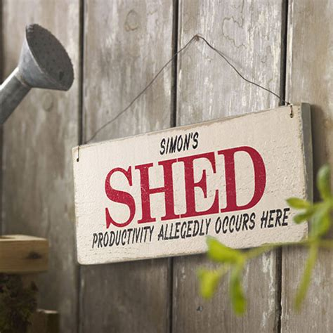 Shed Sign by Personalised Vintage Style Shed Sign By Delightful Living