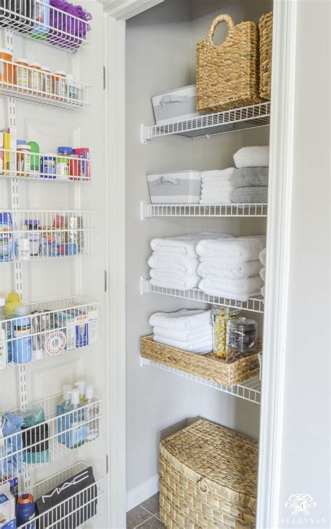 bathroom linen storage ideas organized bathroom linen closet anyone can room