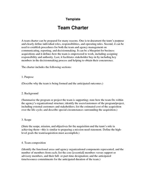 team charter template word team charter template e commercewordpress