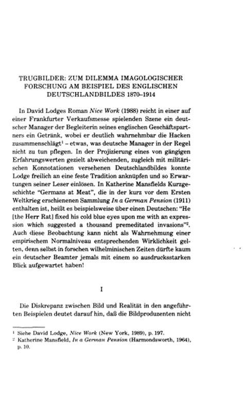 Comment Schreiben Muster Trugbilder Zum Dilemma Imagologischer Forschung Am Beispiel Des Englischen Deutschlandbildes