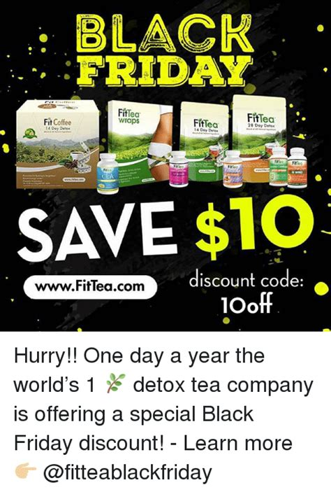 Luvo 10 Day Detox Coupon by Black Friday Fittea Wraps Fiftea 14 Doy Delx Fittea 28 Day