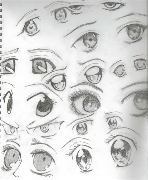 anime eyes drawing in pencil anime eyes pencil by the orange ribbon on deviantart