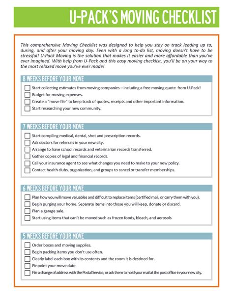 moving checklist 45 great moving checklists checklist for moving in out
