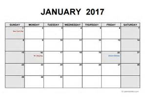 Free Calendars 2017 Monthly Calendar Pdf Free Printable Templates