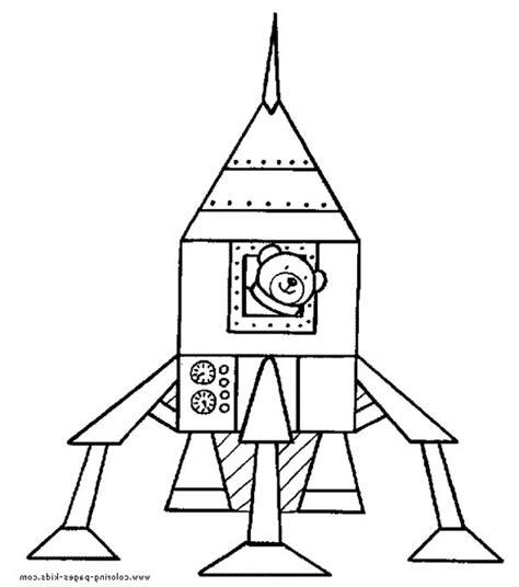 teddy bear  rocket ship coloring page