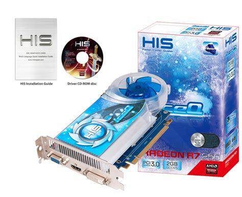 Vga Radeon R7 250 2gb Icooler Ddr5 His His R7 250 Iceq Boost Clock 2gb Gddr5 Pci E Hdmi Sldvi D Vga