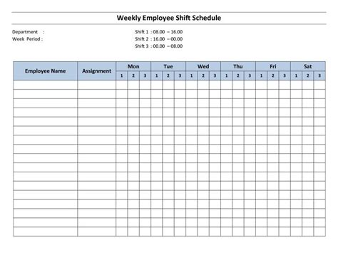 free printable employee work schedules weekly employee