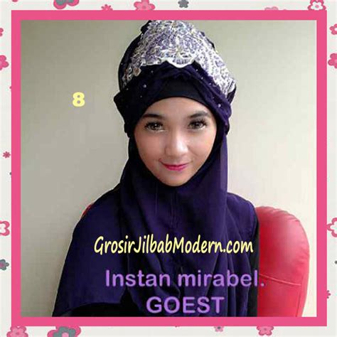 Maribel Syari jilbab instant mirabel original by goest no 8 ungu tua