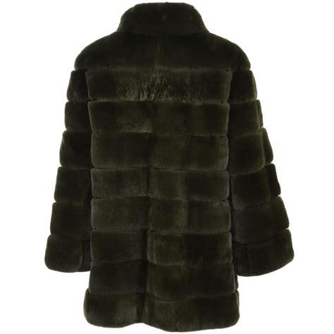 Rex Coat estimo rex rabbit fur coat green danier estimo from