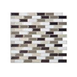 Peel And Stick Backsplash Home Depot Smart Tiles Murano Stone 9 10 In X 10 2 In Peel And