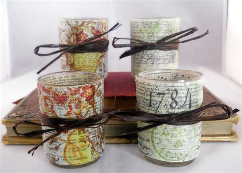 Decoupage Candle Holder - decoupage votive candle holder set script and soft