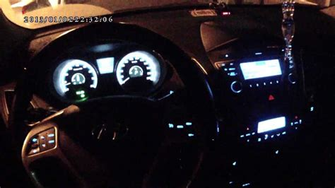 hyundai ix interior  night youtube