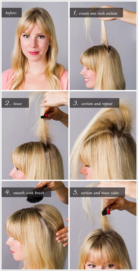 how to properly tease your hair makeupcom pretty simple the not so big tease camille styles