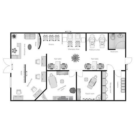 salon floor plan salon floor plan design layout 3375 square foot