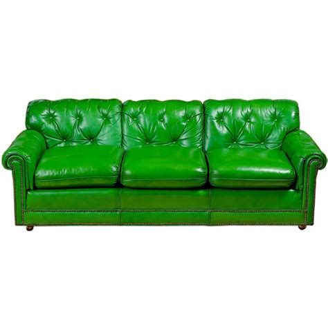money green leather sofa stunning 1960s grass green leather sofa at 1stdibs