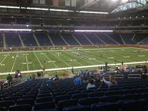 ford field sections ford field section 104 row 34 seat 6 detroit lions vs