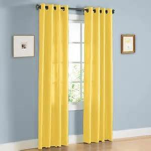 108 Panel Curtains 2 Panel Bright Yellow Window Faux Silk 8 Grommet Curtain