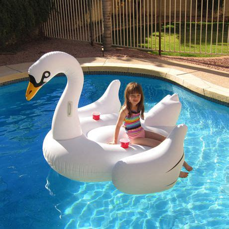 inflatable boats walmart canada blue wave elegant giant swan 73 quot inflatable ride on pool