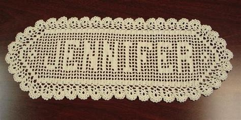 pattern html name free pattern crocheted last name in a frame