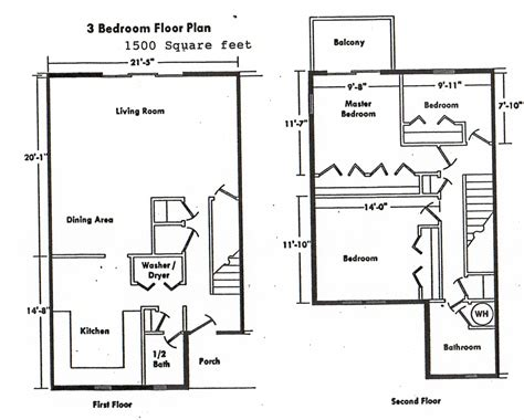 three bedroom floor plan home ideas