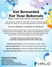 referral flyer template referral flyer gift card