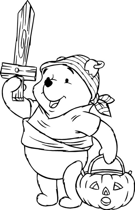 pooh halloween coloring pages gt gt disney coloring pages