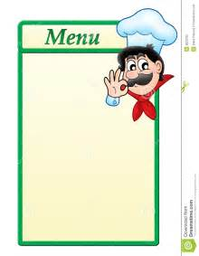menu template with cartoon chef stock photography image