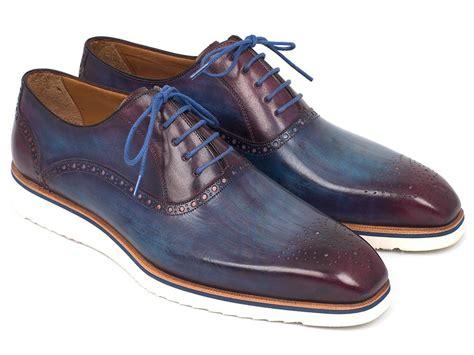 mens purple oxford shoes paul parkman smart casual oxford shoes for blue