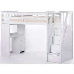 white c loft bed with stair search