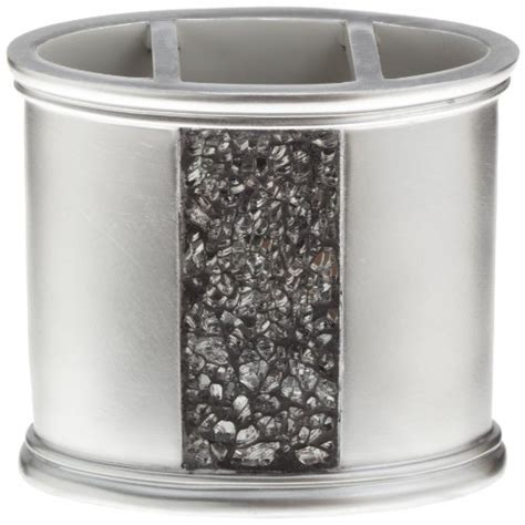 sinatra silver bathroom set save 50 popular bath quot sinatra silver quot tooth brush holder