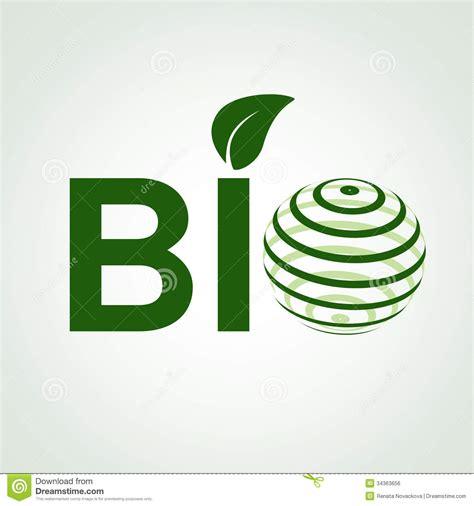 Www Bio bio symbol with leaf and globe royalty free stock image