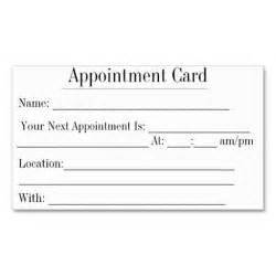 Appointment Card Template by 1000 Images About Appointment Reminder Business Cards On