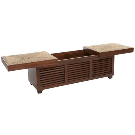 Mahogany Coffee Tables With Storage Trent Home Roberto Storage Ottoman Coffee Table In Mahogany 819832cy