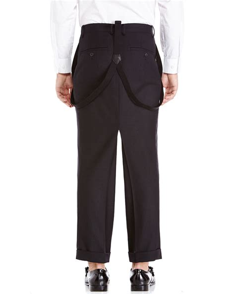 Cropped Suspender junya watanabe black cropped suspender in black for