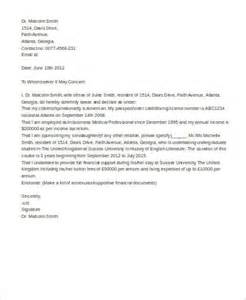 Cover Letter For Affidavit Of Support by It I 751 Affidavit Sle Affidavit Formpng Affidavit